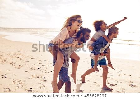 Love games on the beach stock photo © Pilgrimego
