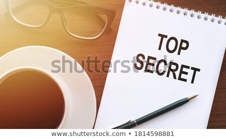 secret   text on blue keyboard keypad 3d stock photo © tashatuvango