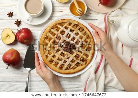 женщину · еды · блюдо · вертикальный · продовольствие - Сток-фото © is2