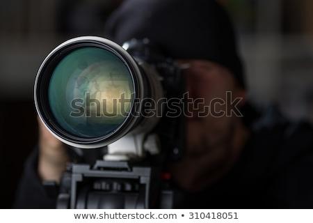 Közelkép profi fotó lencse ellenőrzés digitális fényképezőgép Stock fotó © tashatuvango