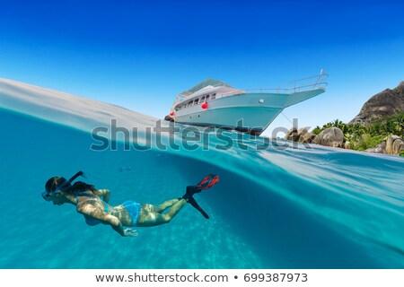 Sualtı atış kız şnorkel doğa çocuk Stok fotoğraf © IS2