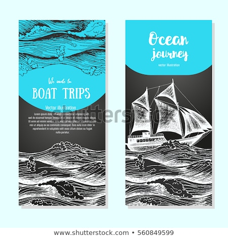 nautical labels on chalkboard background stock photo © genestro