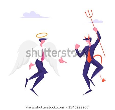 дьявол деловой человек Cartoon сатана костюм галстук Сток-фото © Krisdog