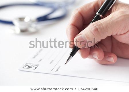 Apteki recepta piśmie farmaceutyczny lek Uwaga Zdjęcia stock © Lightsource