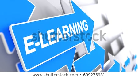 Distance Learning - Label on the Blue Arrow. 3D. Stock photo © tashatuvango