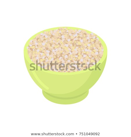 Bowl of barley gruel isolated. Healthy food for breakfast. Vecto Stock photo © MaryValery