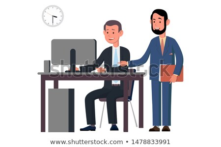 Business team standing beside the boss Stock photo © IS2