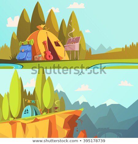 montanhas · vetor · conjunto · ilustração - foto stock © studioworkstock