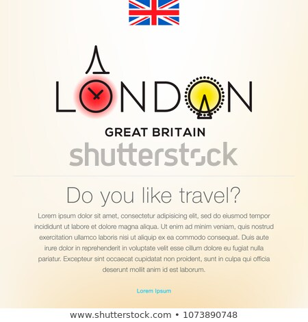 Welcome to London, Great Britain, travel desing background, poster, vector illustration. Stock photo © ikopylov