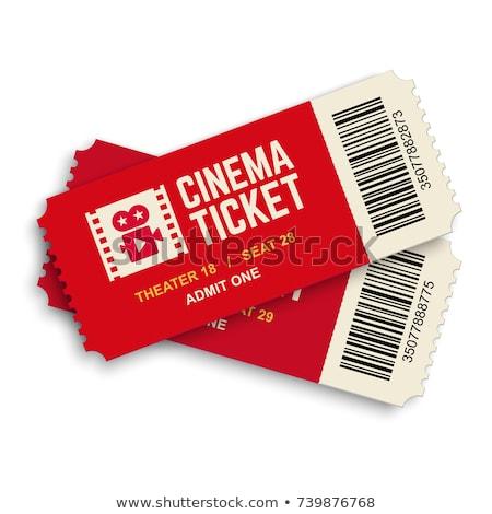 Cinema bilhete ícone filme cartão par Foto stock © Andrei_