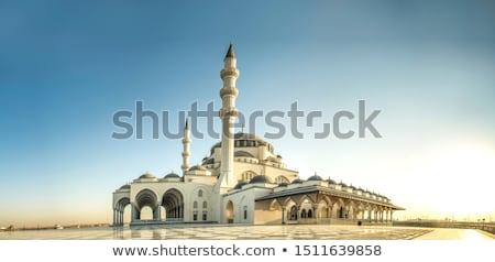 Cami gün batımı türk İstanbul Türkiye ağaç Stok fotoğraf © Givaga