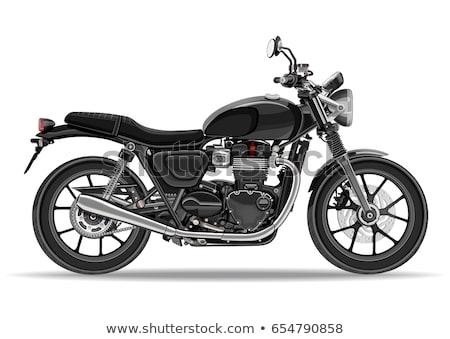 Silnika wyścigi rowerów silnikowych motocykla odizolowany Zdjęcia stock © popaukropa