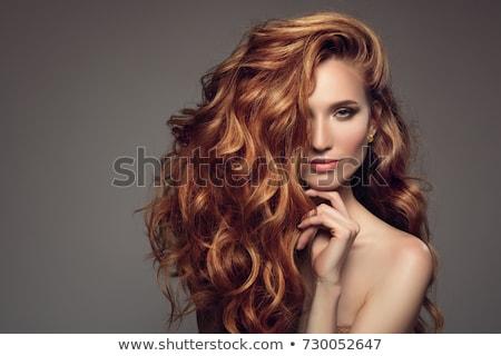 belo · menina · glamour · make-up · retrato - foto stock © NeonShot
