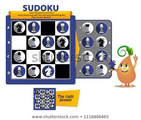 sudoku game chess pieces iq Stock photo © Olena