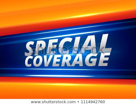 Stock photo: special coverage news report alert background