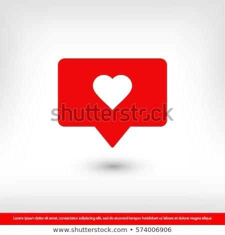 Como corazón icono uno establecer iconos de la web Foto stock © olehsvetiukha