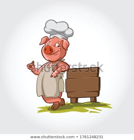 pig cartoon chef character stock photo © krisdog