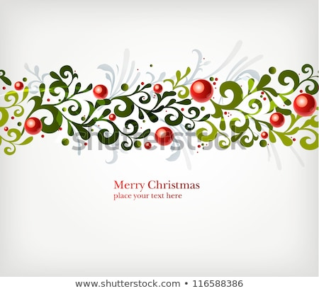 Winter and Christmas stylized decorative leaf designs  Stock photo © Pravokrugulnik