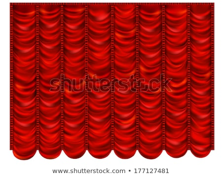 Red dropping Curtain Stock photo © Arsgera