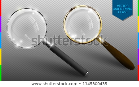 Realistic vector magnifying glass set on transparent background. Isolated icon of retro and modern Stock photo © Iaroslava