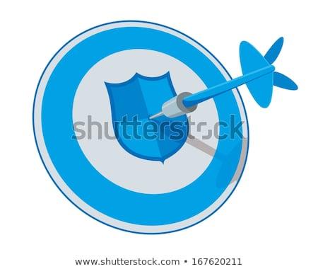 Kék íj nyíl rajz ikon vektor Stock fotó © cidepix