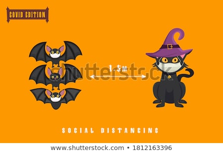 halloween holiday cartoon scary characters group stock photo © izakowski