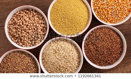 Geheel dieet zaden kommen Stockfoto © lightkeeper