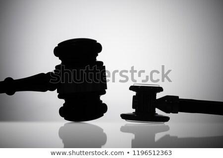 bíró · sztetoszkóp · asztal · tárgyalóterem · orvosi · asztal - stock fotó © andreypopov
