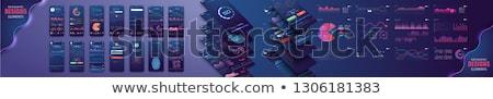 Grande dati applicazioni app interfaccia modello Foto d'archivio © RAStudio