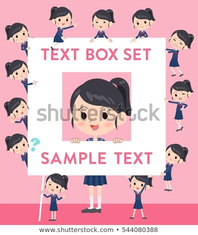 school girl Sailor suit text box Stock photo © toyotoyo