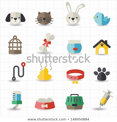 Kennel vector flat icon Stock photo © smoki