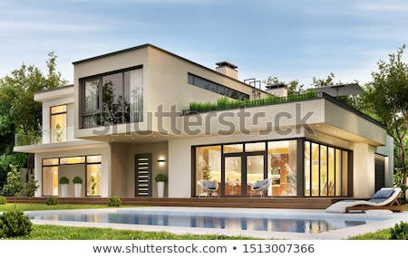 Dış dizayn modern bina örnek ev Bina Stok fotoğraf © bluering