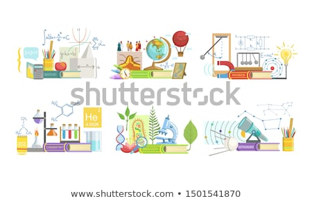 Biology and Geography Set Vector Illustration Stock photo © robuart
