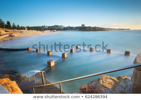 uzun · pozlama · kaya · plaj · kuzey · Portekiz · bo - stok fotoğraf © lovleah