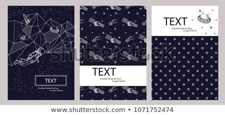 astronomy poster and title vector illustration stock photo © robuart