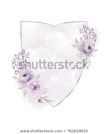 Belle floral laisse soft couleurs invitation de mariage Photo stock © SArts