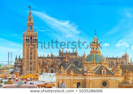Panorama katedral şehir kilise mavi Stok fotoğraf © benkrut