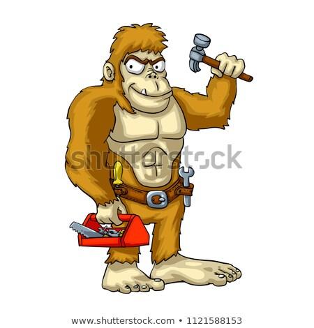 Cartoon sonriendo trabajador de la construcción vector ilustración clipart Foto stock © cthoman