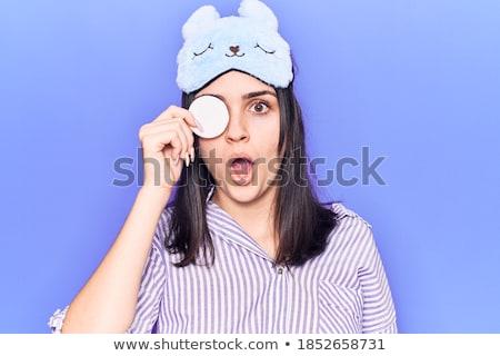 Stock fotó: Portré · aggódó · fiatal · lány · visel · smink · áll