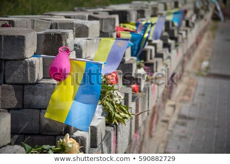 Barricades erected by the demonstrators Stock photo © jossdiim
