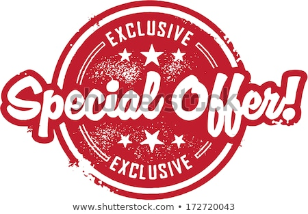 Hot Price Exclusive Offer Vector Illustration Stock photo © robuart