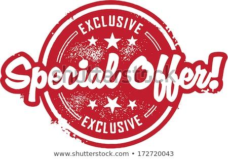 fantástico · ofrecer · exclusivo · descuento · banners · establecer - foto stock © robuart