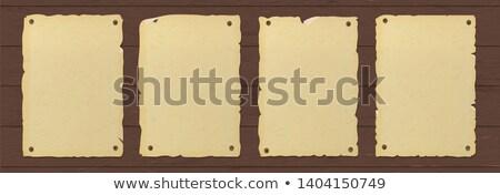 Keret sablon művészet cowboy fehér tábla Stock fotó © colematt