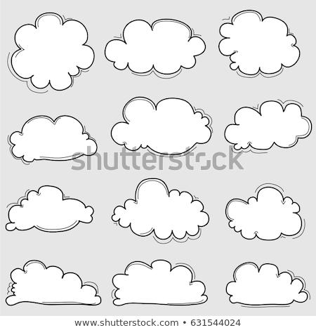 temporale · nube · contorno · doodle · icona - foto d'archivio © rastudio