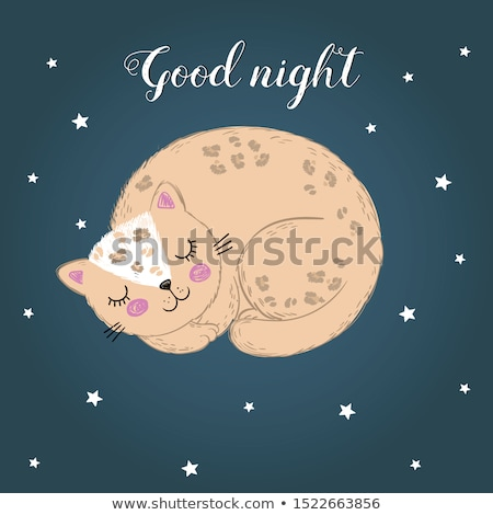 Cartoon Leopard Napping Stock photo © cthoman