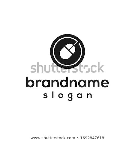 Bilgisayar fare logo ikon vektör imzalamak Stok fotoğraf © blaskorizov