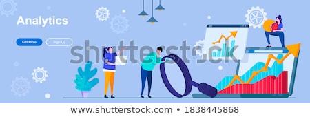 business trend analysis concept banner header stock photo © rastudio