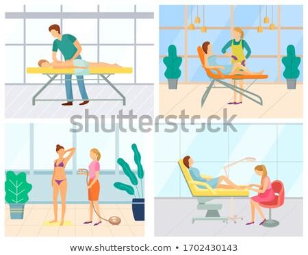 Pédicure vecteur icônes cheveux enlèvement Photo stock © robuart