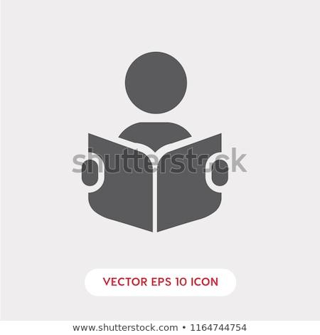 homme · lecture · livre · vecteur · design · illustration - photo stock © blaskorizov