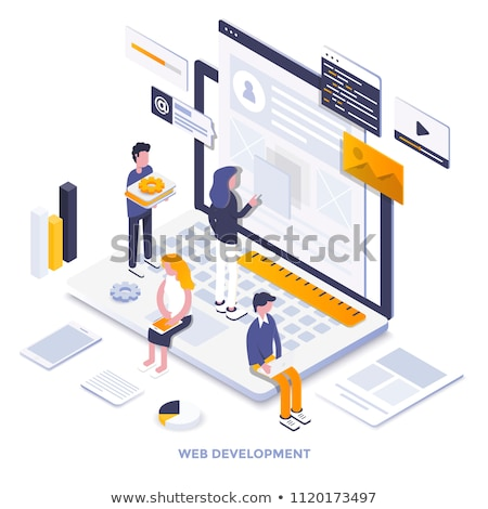 Teamwork - modern flat design style colorful illustration Stock photo © Decorwithme